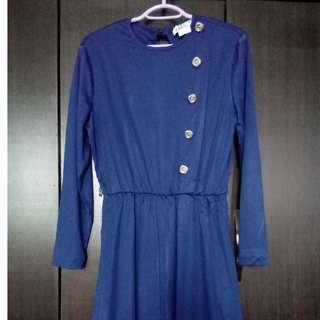 Blue midi vintage dress