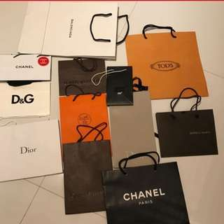 Clearing Branded Paper Bag Luxury Carriers