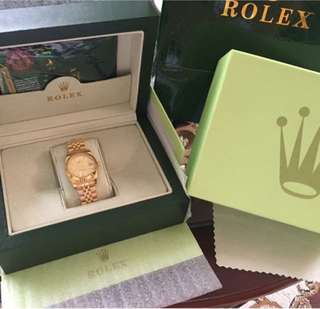 ♛ ROLEX Oyster Perpetual DateJust in Goldtone