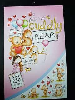 [INSTOCK] BN Cuddly Bear Sticker Book (over 250 stickers)
