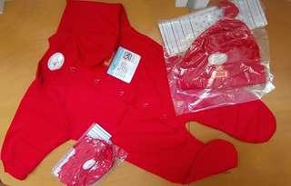 Baby set ( romper mitten booties cap) cheapest!