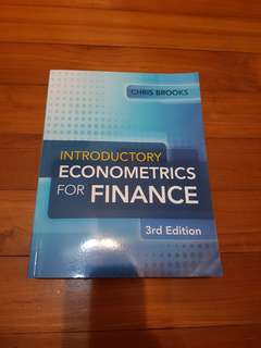 Introductory Econometrics for Finance Textbook