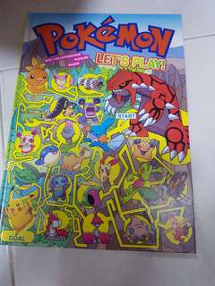 Pokemon Book : Let's Play activity book