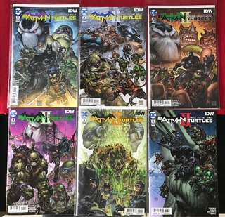 DC & IDW Comics: Batman & Teenage Mutant Ninja Turtles II (Complete)