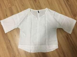 White plain blouse