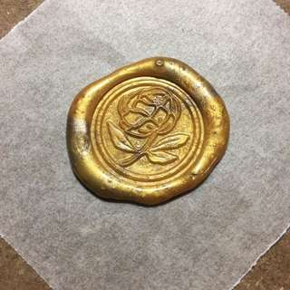 Gold Peony Flower Wax Seals