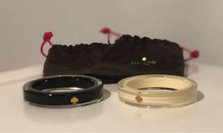 Kate Spade lucite bangles black and white