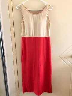 Cream orange dress padded 10