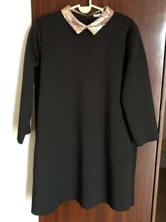 Last Price! ZARA Black dress Large