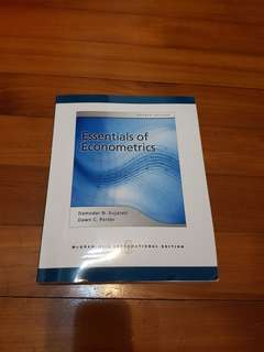 Essentials of Econometrics textbook
