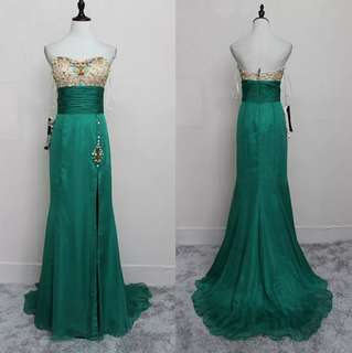 New Green Evening Gown