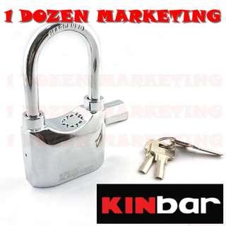 1 Dozen Secure KINBAR 110dB Siren Alarm Lock Silver Chrom