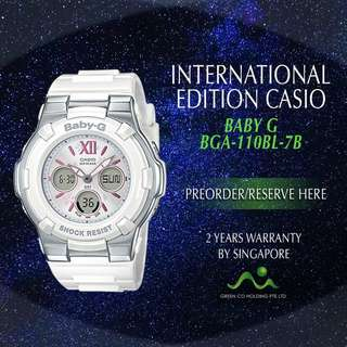 CASIO INTERNATIONAL EDITION BABY G BGA110BL-4B/ BGA110BL-7B