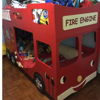 Double Decker Fire Engine Bed