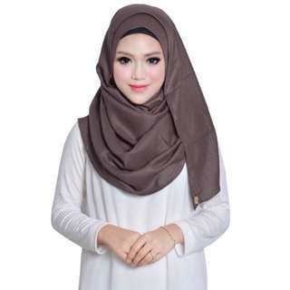 Dollscarf Instant Shawl Plain Brown