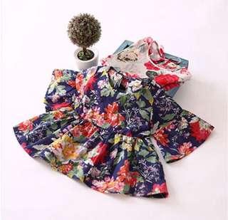 Cotton Girls Summer Floral Dress