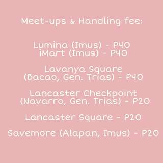 Meet-ups & Handling Fee