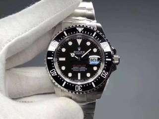 Rolex Sea-Dweller 126600 43mm 2017 Baselworld 50th Anniversary Black Ceramic 904L SS Case and Bracelet
