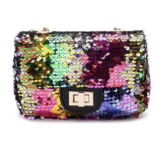 Sequin mini handbag