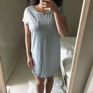 Grey Shirt Dress