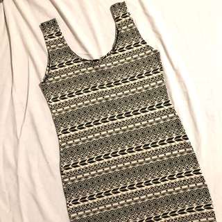 Aztec print bodycon dress