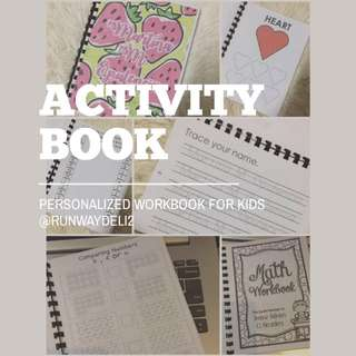 PERSONALIZED ACTIVITY WORKBOOK FOR KIDS