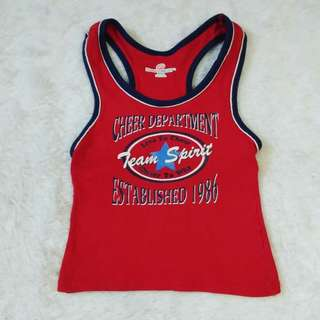(3t) Hanes Sports red cheer top