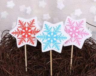 Frozen snowflakes Cake/Cupcake/Muffin Toppers for Party Decoration