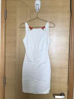Zara work shift White Dress 白色上班裙