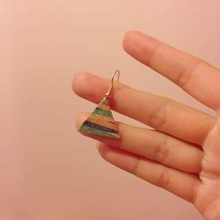 [包郵] 三角金屬耳環