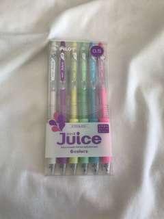 pilot juice colour pens set of 6.