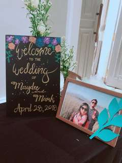 Wedding decor. Welcome to the Wedding Sign