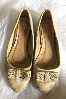Inside creamy shoes