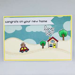 Handmade housewarming card