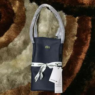 Lacoste tote bag navy blue