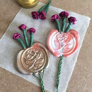Burgundy Rose + Peony Flower Wax Seal for Letters/Gifts/Decoration