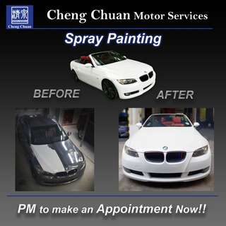 BMW coupe whole car spray painting