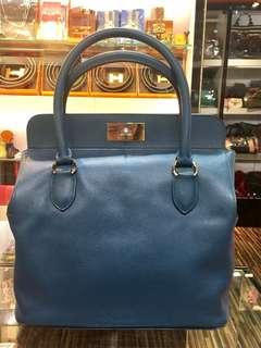 5️⃣1️⃣🉐🎊正品 88%新 Hermes Toolbox 26 藍色手挽上膊袋