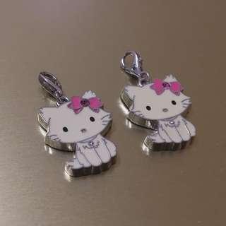(滿100就送/自行告知) 全新Hello Kitty凱蒂貓經典吊飾手鍊手環鑰匙圈明星3D水鑽三麗鷗開運水鑽吊飾