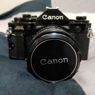 [Clearance!] Canon A1 w/ 50mm f1.4