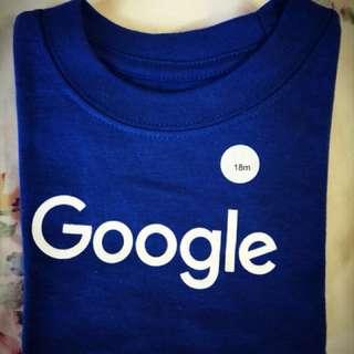美國正品Google kids純棉Tshirt(12m-18m)
