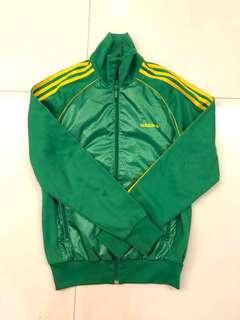 Adidas vintage Montreal 1976 green bomber jacket