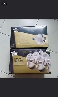Tommee Tippee milk bottles 260ml