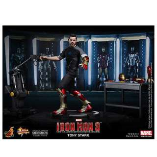 Brand New Hot Toys MMS191 Iron Man 3 Tony Stark Mark XLII Autonomous Prehensile Propulsion Suit Test Armor Testing Version