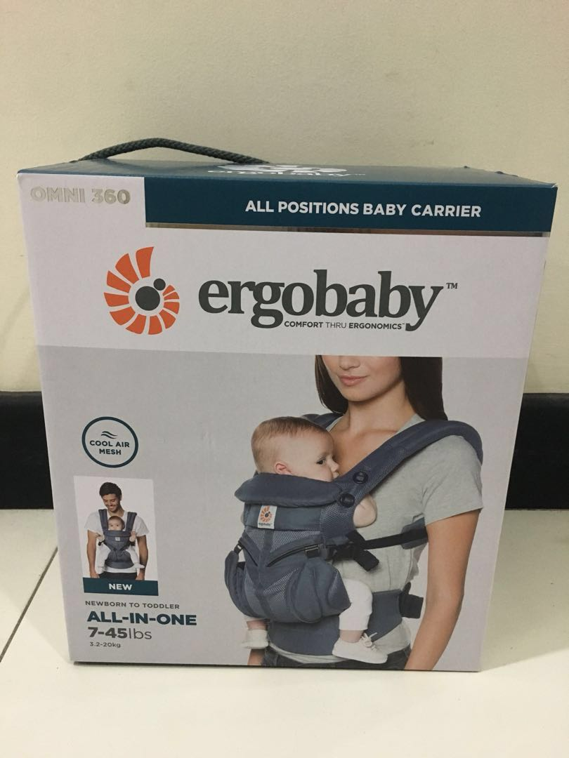21880d5c40b 1pc left) Ergobaby All Positions Baby Carrier Omni 360 - Cool Air ...