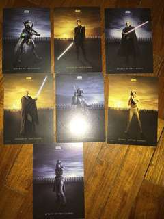 Star Wars Episode 2 set of postcards