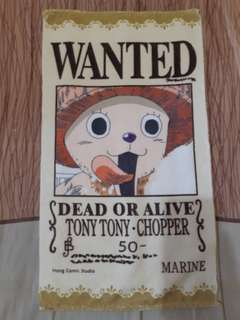 Handuk Kecil One Piece Wanted Tony Tony Chopper