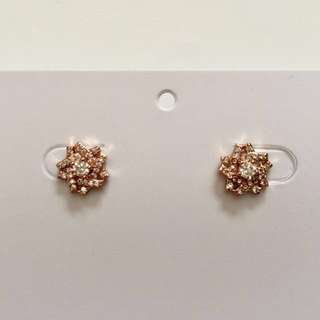 CZ Rose Gold Stud Earrings - Fashion Jewellery
