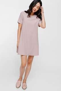 Love Bonito Raela Round Neck Shift Dress in Blush