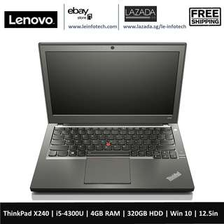🚚 Lenovo ThinkPad X240 12.5''Ultrabook i5-4300U@1.9Ghz 4GB RAM 320GB HDD WIN10 Pro